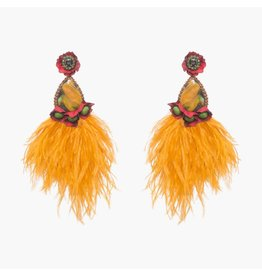 Santana Large Orange Clip On Earring