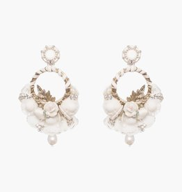 Ranjana Khan Yvonne White Basket Earring