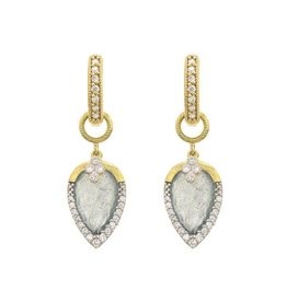 PROVENCE PAVE TEAR DROP DELICATE QUAD EARRING CHARMS