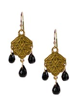 Sunset Black Spinel Earrings