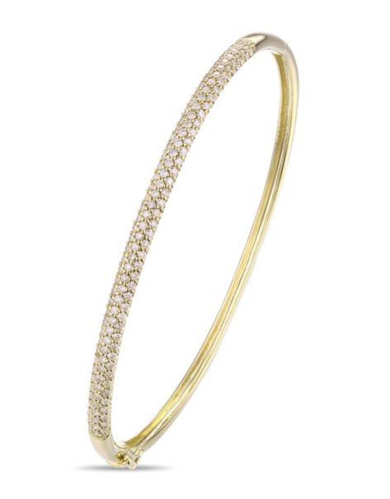 Luvente 14KY 0.99 Dia Bangle Bracelet