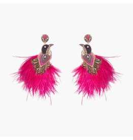 Flamengo Peacock Magenta Earrings