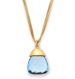 Julie Vos Savannah Pendant Gold Clear Chalcedony