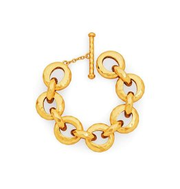 Julie Vos Savannah Demi Link Bracelet Gold