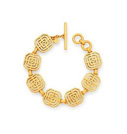 Julie Vos Geneva Link Bracelet Gold