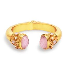 Julie Vos Savannah Hinge Cuff Gold Iridescent Rose