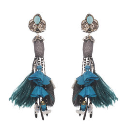 Ranjana Khan Acari Earrings