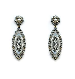 Miguel Ases Marquis Shape Miyuki Earring