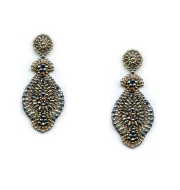 Miguel Ases Tri-Color Drop Earring
