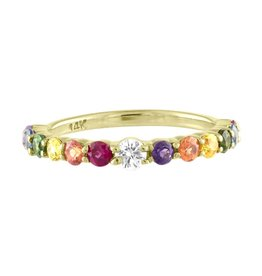 Eden Presley 14k Rainbow Stackable Ring