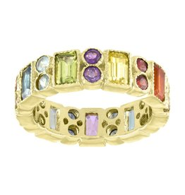 Eden Presley Rainbow Rectangle Double Round Eternity Band