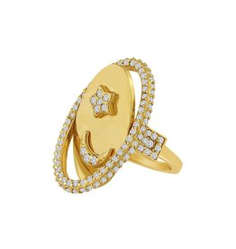 Eden Presley Moon and Back Flip Ring