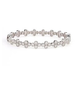 Jude Frances Larve Provence Continuous Diamond Quad Bangle