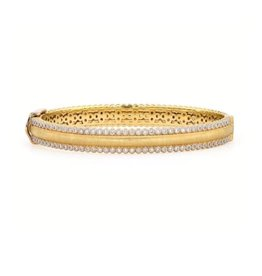 18ky Prov Champagne Pave Cuff