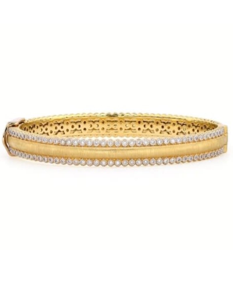 Jude Frances 18ky Prov Champagne Pave Cuff