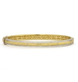 Jude Frances Lisse Engraved Kite Pave Cuff 6.5