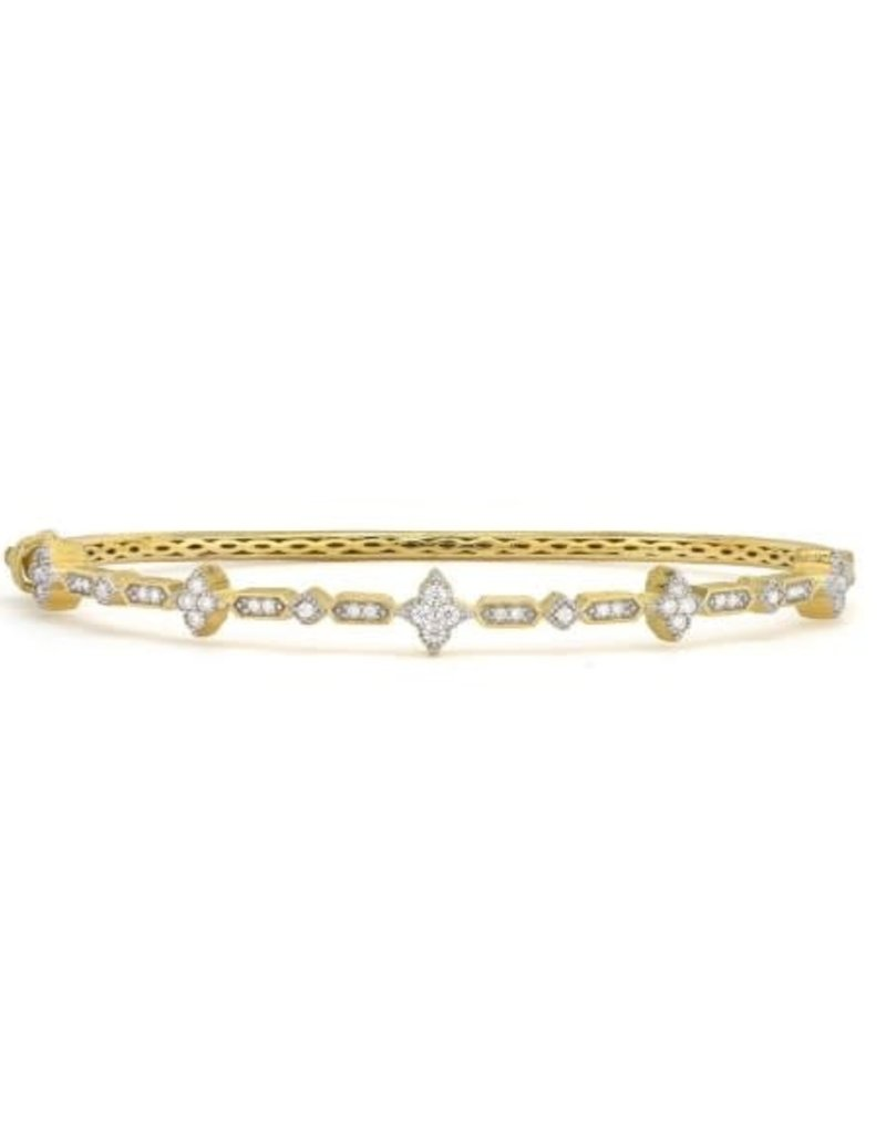 Jude Frances Moroccan Pave Diamond Quad and Kite Bangle