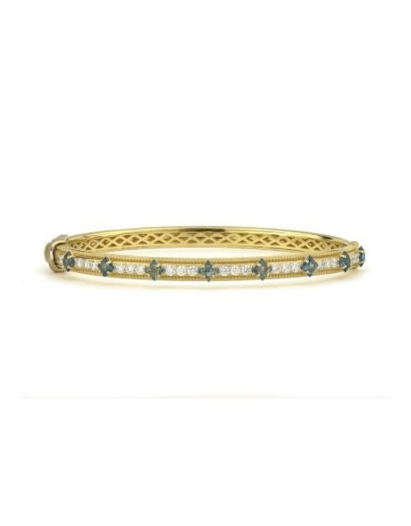Jude Frances MOROCCAN FLOWER CUT STONE PAVE BANGLE