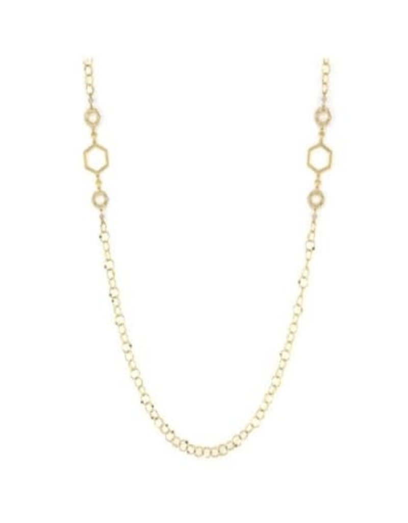 """Jude Frances Lisse Open Hexagon Station Chain 32"""""""