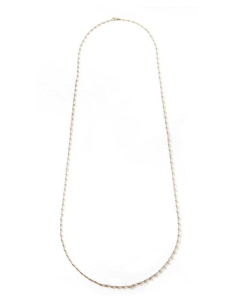 Mizuki 14K Long Wrapped Beaded Chain