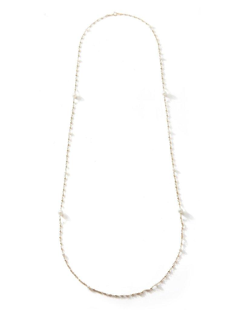 Mizuki 14k Long Wrapped Akoya Bead Chain