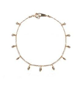 Mizuki 14k Sparkle Bead Fringe Bracelet