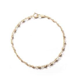 Mizuki 14k Wrapped Sparkle Bead Chain Bracelet