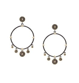 Armenta Old World Crivelli Circle Charm Earrings