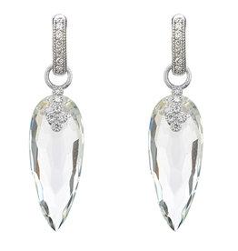 90111e118b4 Jude Frances Provence Champagne Teardrop Stone Bezel Earring Charms