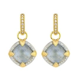 Jude Frances Lisse Cushion Stone Pave Half Kite Earring Charms