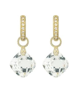 Jude Frances Small Cushion Silhouette Earrings Charms