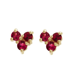 Eden Presley 14k Red Spinel Tri Stud Earring - Single