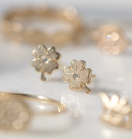 Victoria Cunningham 14k Clover Single Stud Earring