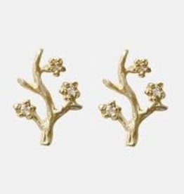 Victoria Cunningham 14k Branch Single Stud Earring