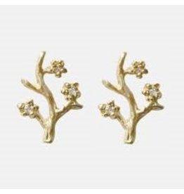 Victoria Cunningham 14k Branch Single Stud Earring