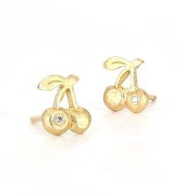 14k Cherries Single Stud Earring
