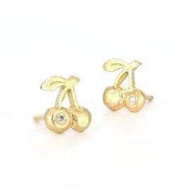 Victoria Cunningham 14k Cherries Single Stud Earring