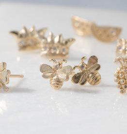 14k Bee Single Stud Earring