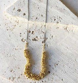 Robindra Unsworth Golden Cluster Fringe Necklace