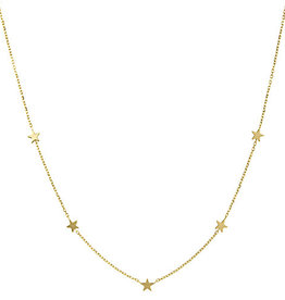 14k Five Star Necklace
