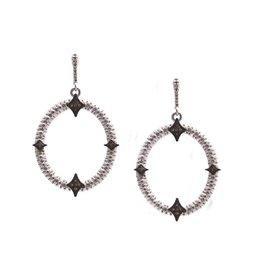 Armenta New World Oval Champagne Diamond Earrings
