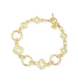 Sueno 18k Quatrefoil Link Bracelet