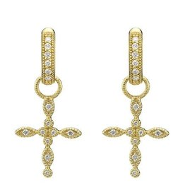 Jude Frances 18KY Lisse Diamond Cross Charms