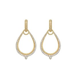 Jude Frances Moroccan Pave Oval Earring Charm Frame