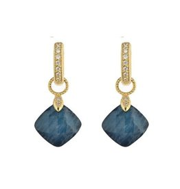 Jude Frances Small Cushion Silhouette Earring Charm