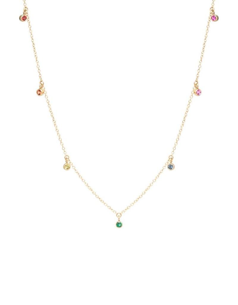 Zoe Chicco 14k Rainbow Sapphire Necklace