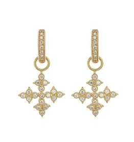 Jude Frances Moroccan Quad Maltese Cross Earring Charms