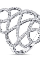 Luvente White Gold Diamond Openwork Ring
