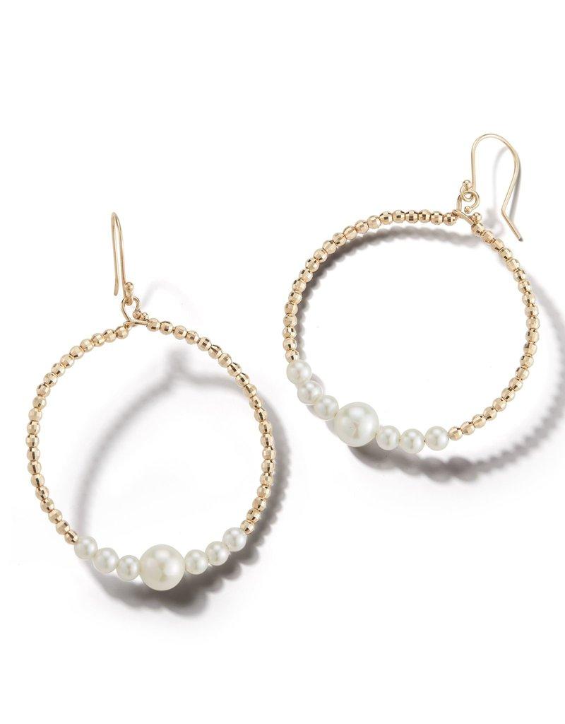 Mizuki 14k Akoya & Bead Circle Drop Earring