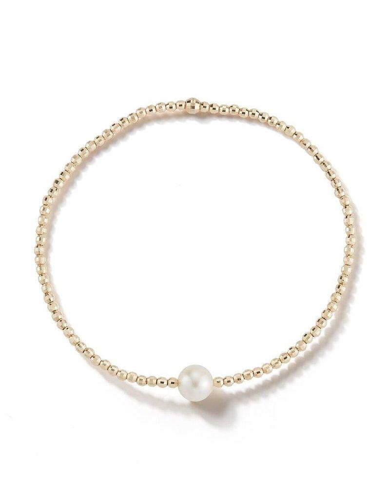 Mizuki Akoya Pearl & 14k Gold Bead Bracelet